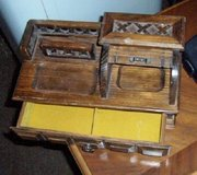 Wooden Miniature roll top desk jewelry box in Westmont, Illinois