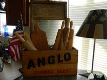 Antique Anglo Corned Beef Wooden Crate in Camp Lejeune, North Carolina